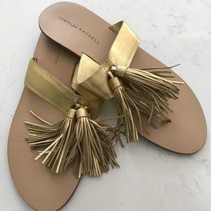Loeffler Randall Gold Tassel Sandal